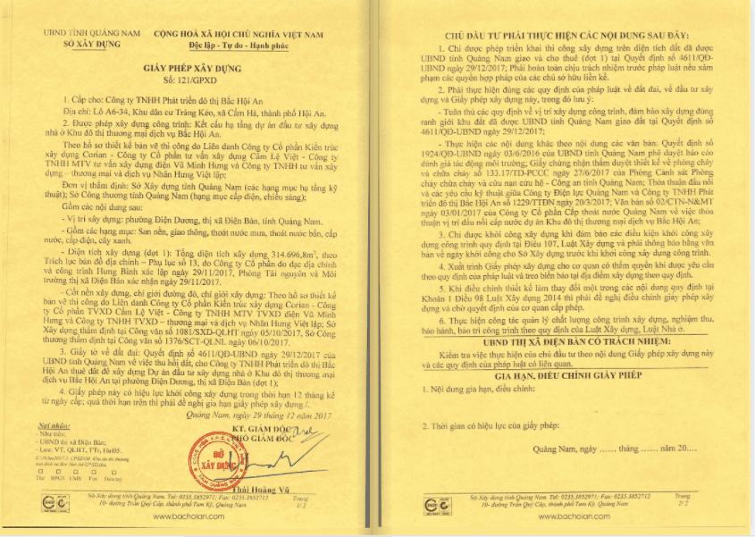 pháp lý dự án La Queenara Hội An 2